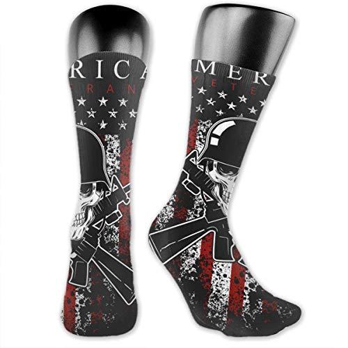 Kkyoxdiy Compression Socks for Men Women America Veteran Day Memorial Day Independence Casual Sock 40cm -