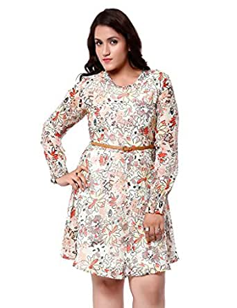 Oxolloxo Women's Plus Size Dress (W15225PDR001_5XL_Multi-Coloured_XXXXX-Large)