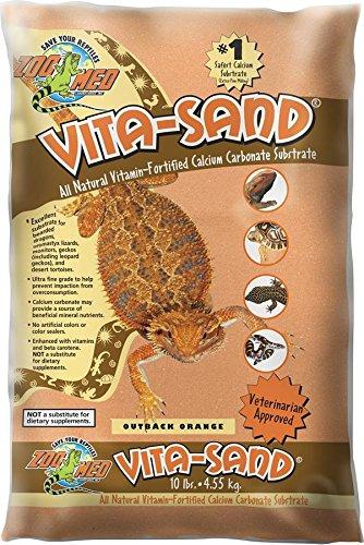 Zoo Med VO-10 Vita-Sand Outback, orange, 4.5 kg ,Terrariensand für Reptilien, mit Vitaminen