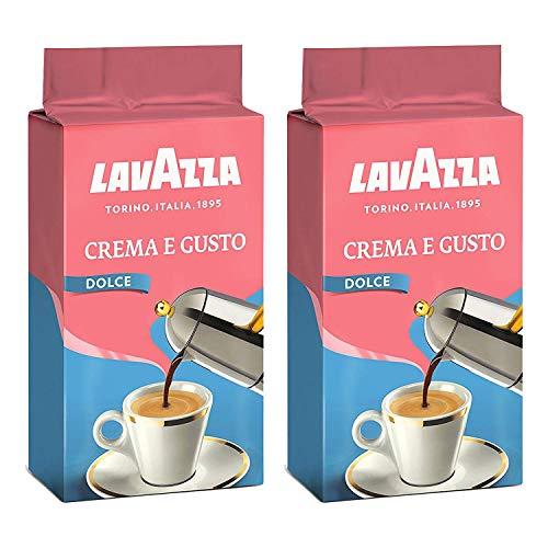 Lavazza Kaffee Crema e Gusto Delicato, gemahlener Bohnenkaffee (2 x 250g)