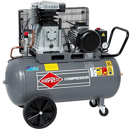Airpress® Druckluft- Kompressor HK 600-90 4 PS / 3 kW 10 bar 90 Liter Kessel Kolben-Kompressor 400 V HK 600-90