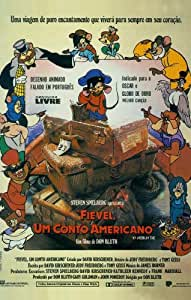 American Tail un An/American Tail: Fievel Goes West affiche de film Brazilian 11 x 17 à 28 x 44 cm-Dom DeLuise Madeline Kahn Phillip Glasser Christopher Plummer Nehemiah Persoff John Cleese