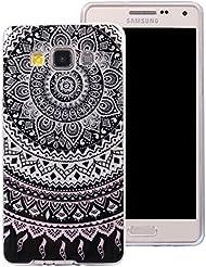 Ecoway Samsung Galaxy A5(2015) Case Cover, Coque de téléphone IMD Silicone Housse en silicone Housse de protection Housse pour téléphone portable pour Samsung Galaxy A5(2015) - Mandala
