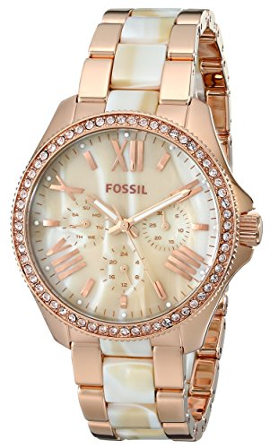 Fósiles de la mujer am4616Cecile three-hand acero inoxidable reloj rosa...