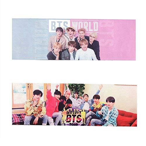 AMA-StarUK36 Kpop BTS Bangtan Boys Banner World We Love Foto Fans Armee unterstützt neues Banner für Party Concert Flag(2pcs) -