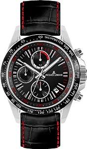 Jacques Lemans Jacques Lemans 1-1327A - Reloj cronógrafo de cuarzo para hombre, correa de cuero multicolor (cronómetro) de Jacques Lemans