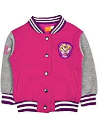 Girls Character Paw Patrol Baseball Jacket Warm Fleece Varsity Bomber Coat Kids Size UK 1-5 Years