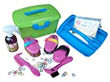 Haas Kinder Putzbox gefüllt pink+ Effol Sternenglanz +Efol Mähnengummis
