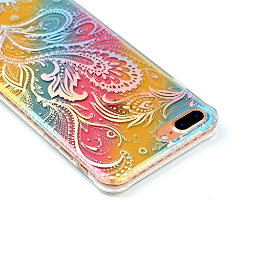 Pour iPhone 7/7G (4,7 zoll) Case Cover, Ecoway TPU Soft Motif de placage en couleur personalized pattern Housse en silicone Housse de protection Housse pour téléphone portable pour iPhone 7/7G (4,7 zo pteris