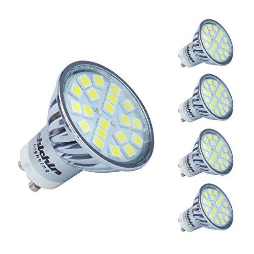 4x GU105050SMD 20led lampadine risparmio energetico 4W giorno bianco * * Super Bright lampade per sostituire alogene 50W-60W * *