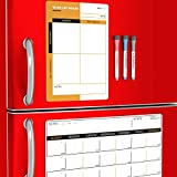 Magnetic Dry Erase Calendar with Refrigerator to-Do List for Kitchen - Monthly...
