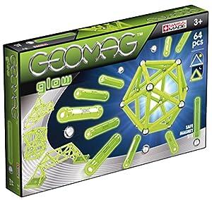 Geomag- Glow Construcciones magnéticas y Juegos educativos,, 64 Piezas (336)