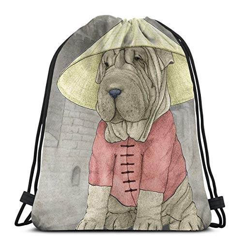 SHAR PEI  PERSONALISED SUBLIMATION GYM PE KIDS GIFT & NAMED SWIMMING BAG