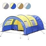 Jago Tunnelzelt Familienzelt Campingzelt Hauszelt für 4 Personen inkl. Tragetasche und Fenster in 4 verschiedenen Farben