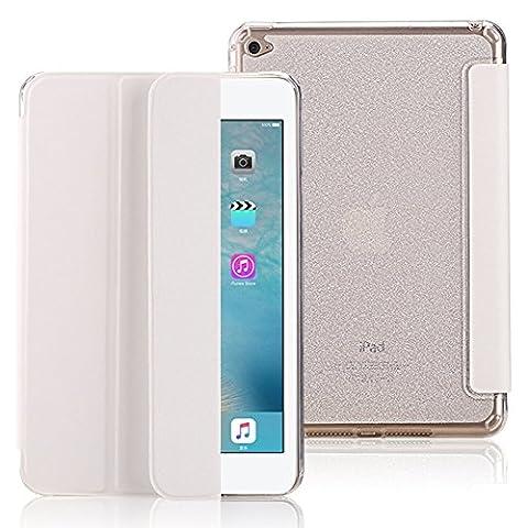 FAS1 iPad Mini 1/2/3 Hülle, PU Leder Ständer Abdeckung mit Bling weichen TPU Tasche, Magnetic Auto Wake & Sleep Smart Schutzhülle für Apple iPad Mini 1/2/3 (Weiß)