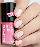 THERMO NAIL POLISH EFFECT - WHITE TO LIGHT PINK - NEW! THERMO NAGELLACK