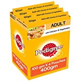 #9: Pedigree Gravy Adult Dog Food, Chicken and Vegetable in Gravy, 100 g Pouch (Pack of 4)