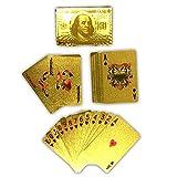 HAC24 Spielkarten Deck vergoldet | Poker Skat Goldkarten | Pokerkarten Gold Karten Plastik