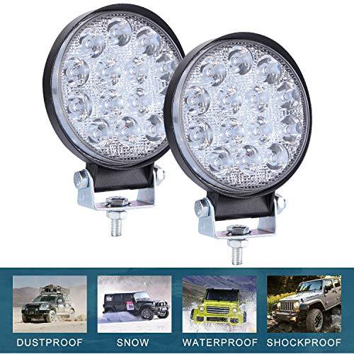 CICMOD 2× Fari Lavoro LED, 9-30V 140W 14000lm Faretti LED Auto IP67 Impermeabile per off-Road Truck Jeep Caravan SUV Rotondo