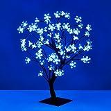 Decorative Black Bonsai Style Tree Light with 72 Blue LED's - 45cm
