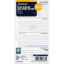 Filofax 000018-68440 Kalender, Personal 1 Woche auf 2 Seiten (D) 2018
