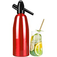 FDYD Soda Maker Portable Bouteille Seltzer gazéifiée Boissons gazeuses Eau Maison Machine,Rouge