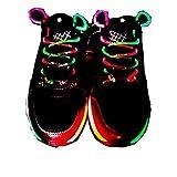 Xiaokesong® Ein Paar Glowing Flash LED Blinklicht Leuchtende Schuhbänder Schnürsenkel (Farbig)