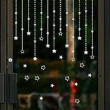 selbstklebende Weihnachten Star Wandaufkleber Aufkleber Abnehmbare Frohe Wandhaupt Fenster Decor Fensterbild / Fensteraufkleber für In- und Outdoor LuckyGirls