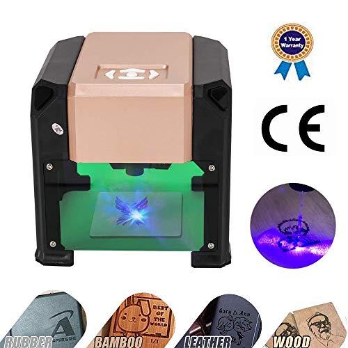 Laser Graviermaschine Lasergravierer Drucker Mit CE-Zertifizierung- 3000 MW Mini Desktop Laserengraver Maschine DIY Logo Laserengraver 7,5x7,5 CM