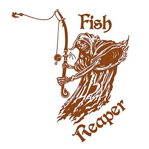 guijiumai Etiqueta engomada de la Pesca Dctal Car Skull Fish Decal Angle...