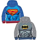 93e51dbaeef2ec Supereroi Felpa con Cappuccio Superman/Batman (10ANNI Bambino, Grigio)
