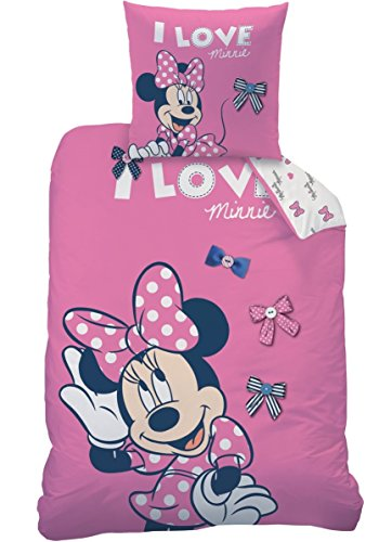 Bettwäsche Set Disney Minnie Mouse 135x200cm + 80x80cm Biber/Flanell