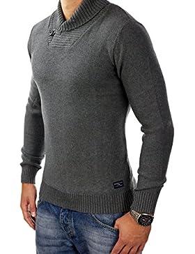 Selected Jersey Negro-gris Cuello Bufanda