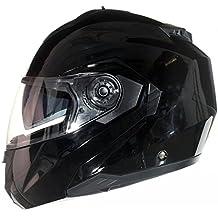 Casco Modular para Motocicleta con Integral Doble Visera - Negro - M (57-58cm)