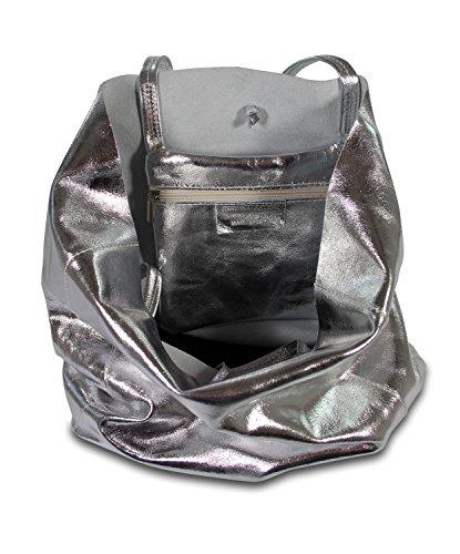 IO.IO.MIO Borsetta per le Icone® - Borsa con Maniglia Donna argento metallizzato