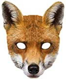 Faschingsfete Fuchs Maske, Braun