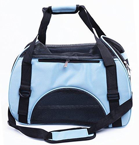 SWIHEL Transporttasche für Haustiere, Hundebox, Hundetragetasche Katzentragetasche, Transportbox Reisebox Katzenbox. [ Blau ]