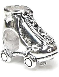 Queenberry Sterling Silber Stern Stiefel Roller Skate Charm Bead für Pandora/Troll/Chamilia/Biagi/europäische JewelryQueenberry Charm-Anhänger Rollschuh, für Pandora/Troll/Chamilia/Biagi