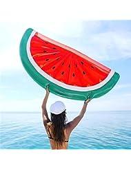 Adulta media sandía más gruesa agua flotante inflable suministra flotador de PVC flotante cama de playa nadar anillo sola pieza , umbrella watermelon size 180