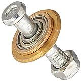 uxcell a15120900ux0185Titan-beschichtete Rotary Bearing Schneiden Rad Fliesenschneider