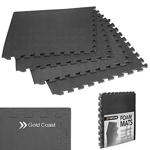 Gold Coast 4 Piece Set of 1.2cm Thick Interlocking EVA Foam Aerobic Exercise Yoga Pilates Gym Equipment Mats / Floor Protection