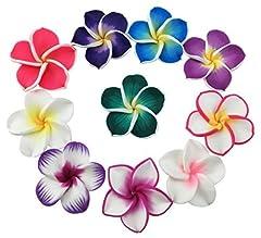 Idea Regalo - Bellissimi mini fiori hawaiani artificiali colorati di diametro 3,6cm, 50pezzi, per festa di nozze, casa, ufficio, decorazione, lavori manuali, regalo per la festa della mamma (colori assortiti)