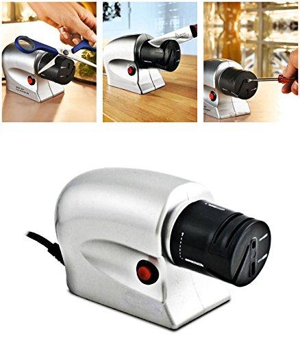 takestop® Afilador eléctrico afilador Cuchillos Tijeras Cuchillas afilar Cuchilla Arrota Herramientas Destornillador
