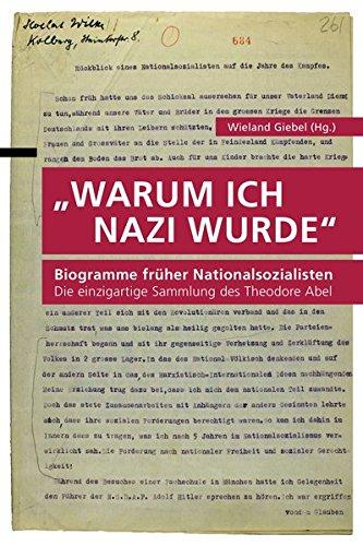 Buchcover Warum ich Nazi wurde: Biogramme früher Nationalsozialisten