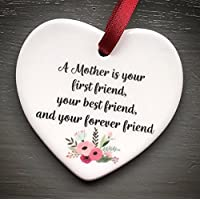 A Mother is your first friend Mini Hanging Heart Plaque Mothers Love Plaque Gift