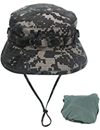 58b3b268a2 Kata Men s Outdoor Sun Protection Boonie Hat Foldable Breathable Hunting Hat  Bucket Hat
