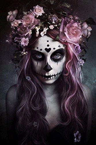 Póster Tattoo 'Día de Muertos' (61cm x 91,5cm) + 2 marcos...