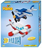Hama 3242 3D Planes Craft Set, Bunt