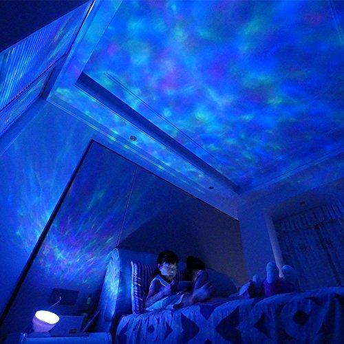 Vorally RGB LED Stimmungslicht mit 12 Fernbedienung - 7 Modus + Winkeleinstellung + Hypnotischen Musik + Eingeführt werden kann TF + Timing-Funktion - iPhone Android Smartphone ipad [Energieklasse A ++]