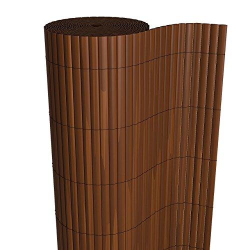 HOMELUX Sichtschutzmatte Windschutz Balkonverkleidung Garten Blende PVC Zaun UV-Resistent Wetterfest Schnelltrocknend 80 x 500 cm Farbe: BRAUN